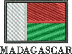 Madagascar Flag embroidery design