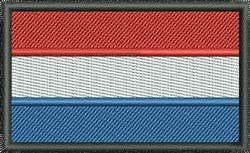 Flag Of Netherlands embroidery design