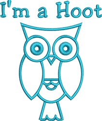 Im A Hoot embroidery design