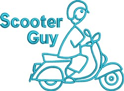 Scooter Guy embroidery design