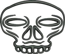 Zombie Skull embroidery design