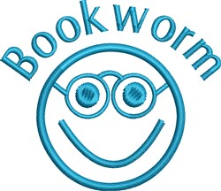 Booklworm embroidery design