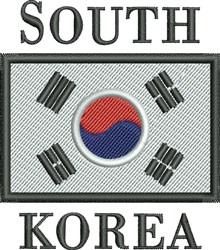 South Korea Flag embroidery design