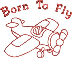 Born To Fly embroidery design