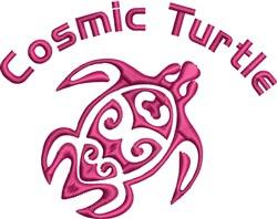 Cosmic Turtle embroidery design