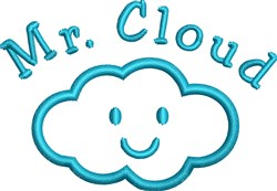 Mr Cloud embroidery design