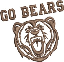 Go Bears embroidery design