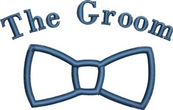 The Groom embroidery design