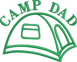 Camp Dad embroidery design