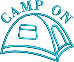Camp On embroidery design