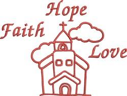 Faith Hope Love embroidery design