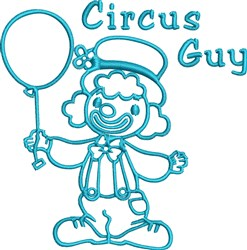 Circus Guy embroidery design