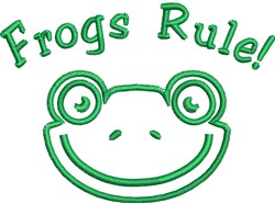 Frog Face Outline embroidery design