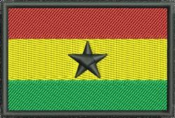 Ghana Flag embroidery design
