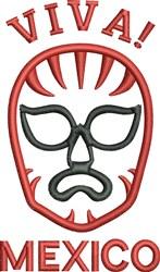 Lucha Libre embroidery design