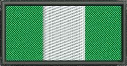 Nigeria Flag embroidery design