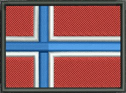 Norway Flag embroidery design