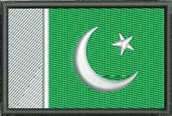 Pakistan Flag embroidery design