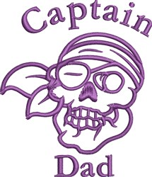 Pirate Skull Outline embroidery design