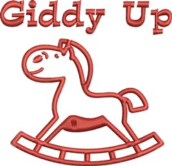 Rocking Horse Outline embroidery design