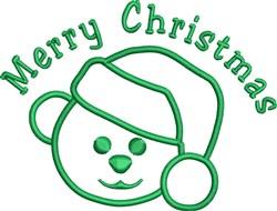 Santa Bear Outline embroidery design