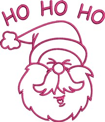 Santa Claus Outline embroidery design
