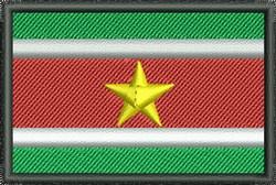 Suriname Flag embroidery design
