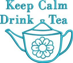 Tea Kettle Outline embroidery design