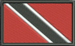 Trinidad Tobago Flag embroidery design