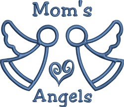 Moms Angels embroidery design