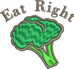 Eat Right embroidery design