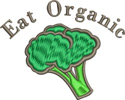 Eat Organic embroidery design