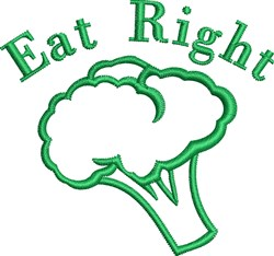 Eat Right Outline embroidery design