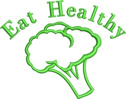Eat Healthy Outline embroidery design