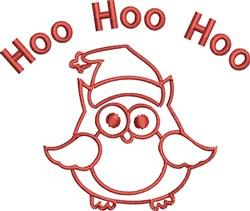 Hoo Owl Outline embroidery design