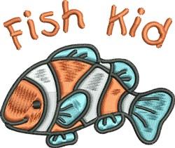 Fish Kid embroidery design