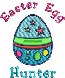 Easter Egg Hunter embroidery design