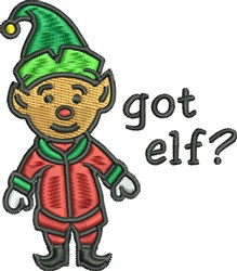 Got Elf embroidery design