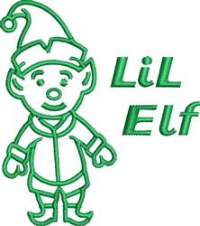 Lil Elf Outline embroidery design