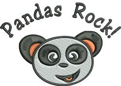 Pandas Rock embroidery design