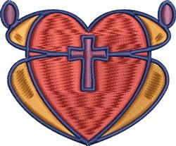 Cross Heart embroidery design