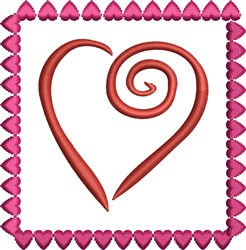 Framed Heart embroidery design