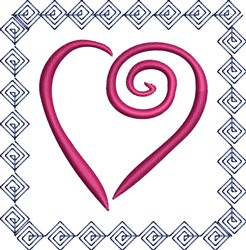 Diamond Heart embroidery design