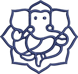 Ganesha Outline embroidery design