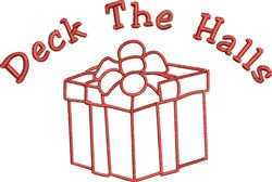 Deck The Halls Gift embroidery design