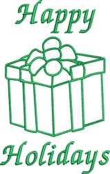 Holiday Gift Outline embroidery design