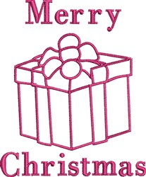 Christmas Gift Outline embroidery design
