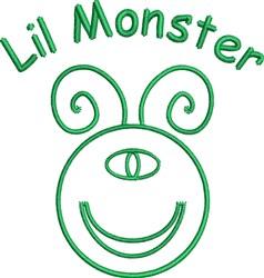 Lil Monster Outline embroidery design