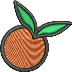 Orange embroidery design