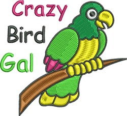Crazy Bird Gal embroidery design